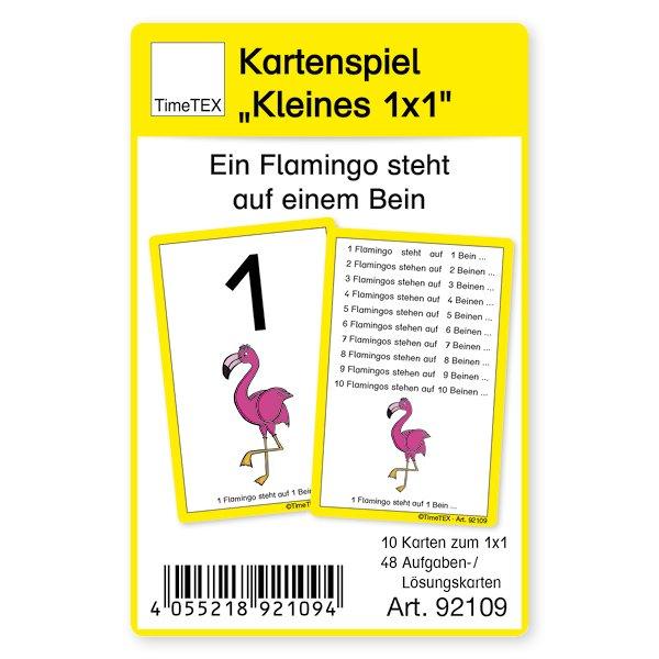 """Kartenspiel """"Kleines 1x1"""", 60-tlg., im Etui"""