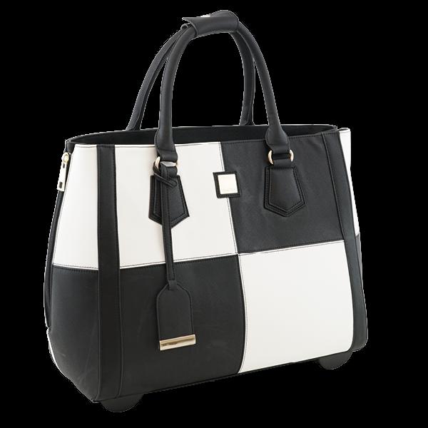 """TimeTEX Handtaschen-Trolley """"Bella"""", schwarz-weiß"""
