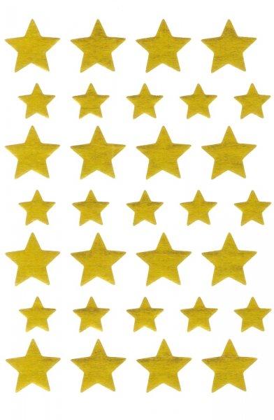 Belobigungs-Aufkleber, 185 Stück, Sterne gold
