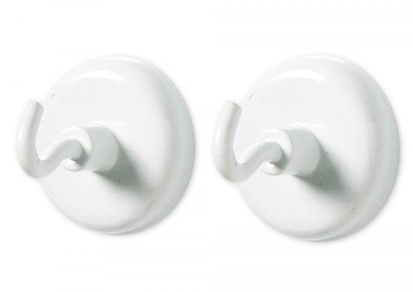Magnet-Haken-Set, 47 mm ø, weiß, 2-tlg.