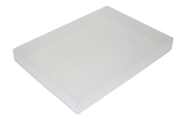 Kunststoff-Box A4 flach, transparent farblos