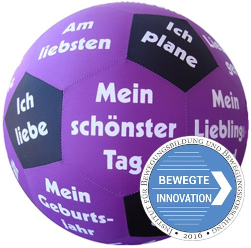 "Lernspiel-Ball ""Pello"" - Kennenlern-Sätze Deutsch"