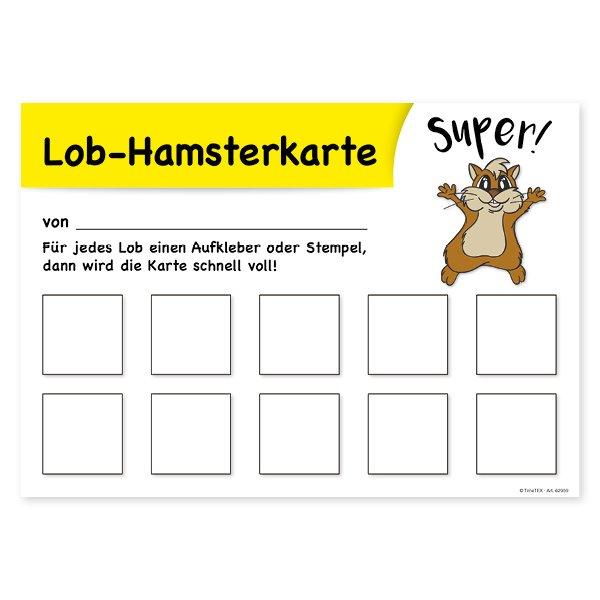 Lob-Hamsterkarte mit 10 Feldern, 25 Stück
