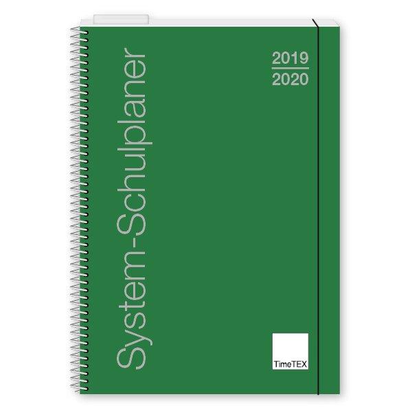 TimeTEX System-Schulplaner A4, grün 2019/2020