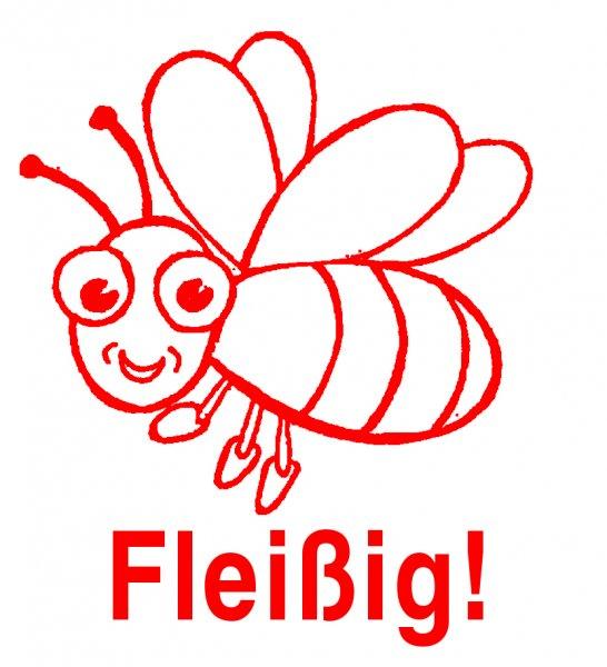 """Siebdruck-Stempel """"Perpetuum"""", Biene """"Fleißig!"""""""