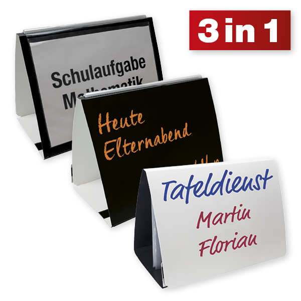 TimeTEX Whiteboard-Tisch-Flipchart A4, ca. 33 x 25 cm