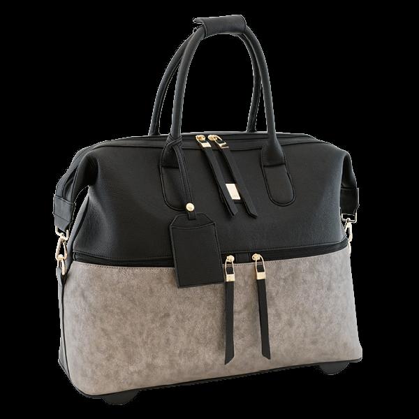 """TimeTEX Handtaschen-Trolley """"Bella"""", schwarz-grau"""