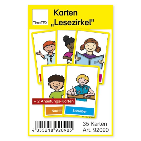 "TimeTEX Karten ""Lesezirkel"", 38-tlg. im Etui"
