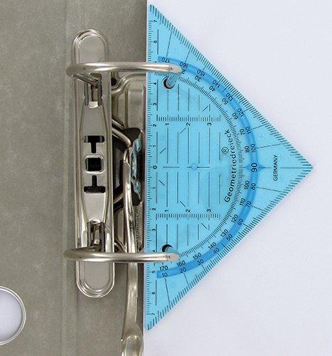 Geometrie-Dreieck zum Abheften, 16 cm