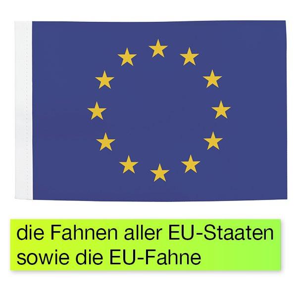"""TimeTEX Set Tisch-Fahnen """"EU"""", 29-tlg., in Box"""