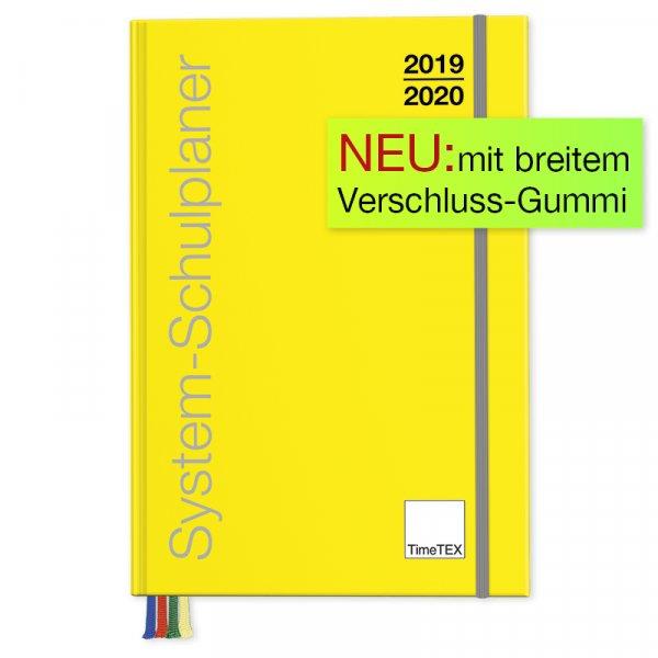 TimeTEX System-Schulplaner A5-Plus, gelb 2019/2020