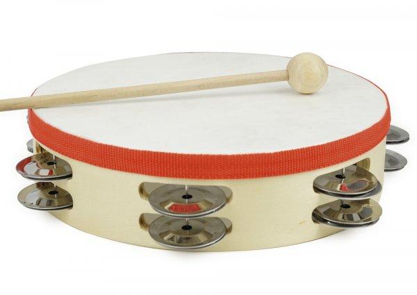 Tamburin mit Schlägel, 20 cm ø