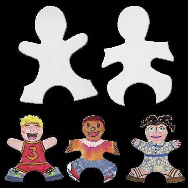 Puzzleteile aus Kinderfiguren zum Selbstgestalten, 24 Stück