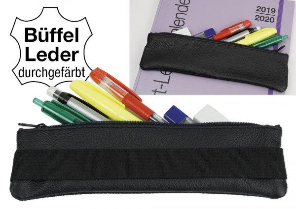 Aufspann-Stiftmäppchen aus Leder, für A5 und A4