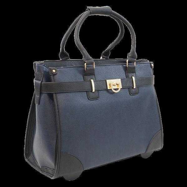 """TimeTEX Handtaschen-Trolley """"Bella"""", blau-schwarz"""