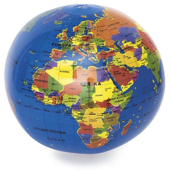 Globus-Ball, Beschriftung deutsch, ca. 30 cm ø