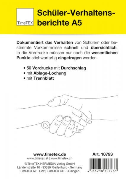 Block Verhaltensberichte A5, 50 Blatt mit Durchschlag