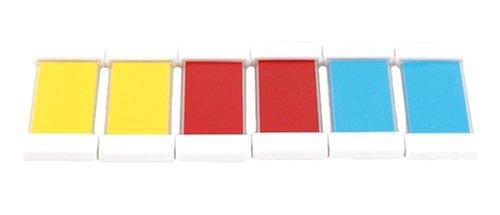 Set Farbtäfelchen 6-tlg., 3 Farbpaare