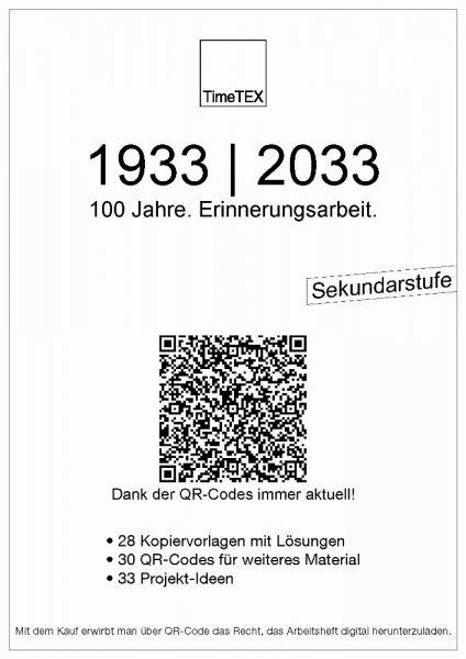 Arbeitsheft A4 1933 / 2033 - 100 Jahre. Erinnerungsarbeit